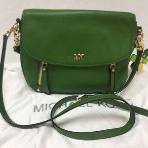 Michael Kors Bedford Legacy Medium Flap Bag Green